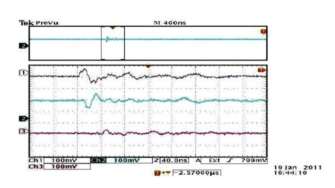 Oscilloscope-image-of-the-pulses-recorded-from-the-three-phases